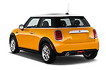 Rear three quarter view of a 2014 MINI Cooper Hardtop 3 Door Hatchback
