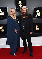 Morgane Stapleton, left, and Chris Stapleton arrive at the 61st annual Grammy Awards at the Staples Center on Sunday, Feb. 10, 2019, in Los Angeles. (Photo by Jordan Strauss/Invision/AP)