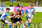 Newport 's Niall Keegan and Tralee's Nessan Crean in  Action at  O'Dowd Park on Sunday Tralee against  Newport