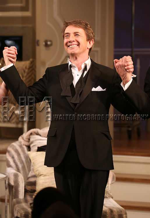 Martin Short during the re-opening night Curtain Call for 'It's Only A Play' at the Bernard B. Jacobs Theatre on January 23, 2014 in New York City.