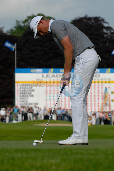 Robert Karlsson takes his putt on the 18th green during the third round of the 2008 Irish Open at Adare Manor Golf Resort, Adare,Co.Limerick, Ireland 17th May 2008 (Photo by Eoin Clarke/GOLFFILE)