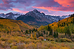 Dawn, Aspen, Mount Sneffels, Dallas Divide, Uncompahgre National Forest, Colorado