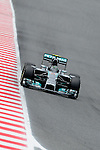Mercedes driver Nico Rosberg drives during a race at the Circuit de Catalunya on May 11, 2014. <br /> PHOTOCALL3000/PD