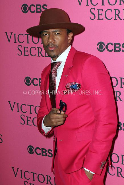 WWW.ACEPIXS.COM<br /> <br /> November 10 2015, New York City<br /> <br /> Nick Cannon attends the 2015 Victoria's Secret Fashion Show at Lexington Avenue Armory on November 10, 2015 in New York City.<br /> <br /> By Line: Nancy Rivera/ACE Pictures<br /> <br /> <br /> ACE Pictures, Inc.<br /> tel: 646 769 0430<br /> Email: info@acepixs.com<br /> www.acepixs.com