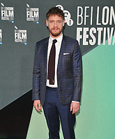 Billy Howle at the 61st BFI LFF &quot;On Chesil Beach&quot; Love gala, Embankment Garden Cinema, Villiers Street, London, England, UK, on Sunday 08 October 2017.<br /> CAP/CAN<br /> &copy;CAN/Capital Pictures