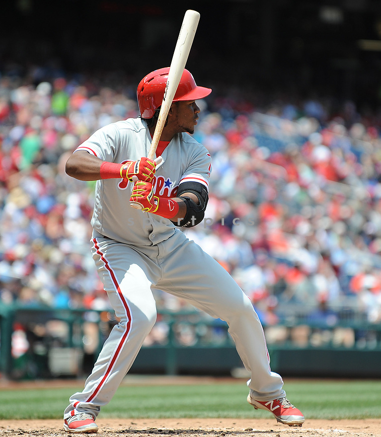 Philadelphia Phillies Maikel Franco (7) during a game against the Washington Nationals on June 11, 2016 at Nationals Park in Washington, DC. The Nationals beat the Phillies 8-0.
