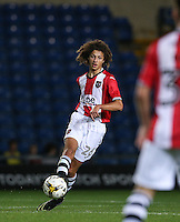 15 year old Ethan Ampadu of Exeter City plays a pass during the The Checkatrade Trophy match between Oxford United and Exeter City at the Kassam Stadium, Oxford, England on 30 August 2016. Photo by Andy Rowland / PRiME Media Images.