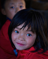 Young Girl at the Traditional Village of Sopsokha, Punakha District, Bhutan