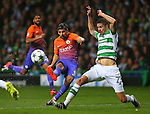 Nolito of Manchester City gets in a shot during the Champions League Group C match at the Celtic Park Stadium, Glasgow. Picture date: September 28th, 2016. Pic Simon Bellis/Sportimage