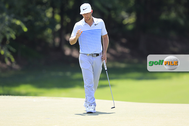 Kevin Chappell (USA) putts on the 12th green during Thursday's Round 1 of the 2017 PGA Championship held at Quail Hollow Golf Club, Charlotte, North Carolina, USA. 10th August 2017.<br /> Picture: Eoin Clarke | Golffile<br /> <br /> <br /> All photos usage must carry mandatory copyright credit (&copy; Golffile | Eoin Clarke)