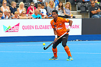 Razie Rahim of Malaysia controls the ball during the Hockey World League Semi-Final match between Argentina and Malaysia at the Olympic Park, London, England on 24 June 2017. Photo by Steve McCarthy.