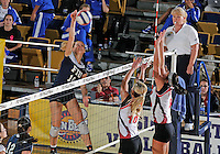 FIU outside hitter Marija Prsa (10) plays against Western Kentucky in the semi-finals of the Sunbelt Conference Volleyball Tournament.  Western Kentucky won the match 3-0 on November 18, 2011 at Miami, Florida. .