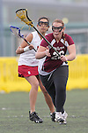 Santa Barbara, CA 02/19/11 - Mia Divecha (Stanford #14) and Kali Samuelson (Minnesota-Duluth #26) in action during the Stanford - Minnesota-Duluth game at the 2011 Santa Barbara Shootout.