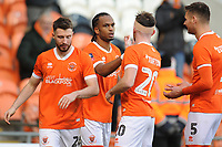 Blackpool's Nathan Delfouneso celebrates scoring his side's second goal with team-mates<br /> <br /> Photographer Kevin Barnes/CameraSport<br /> <br /> Emirates FA Cup Second Round - Blackpool v Maidstone United - Sunday 1st December 2019 - Bloomfield Road - Blackpool<br />  <br /> World Copyright © 2019 CameraSport. All rights reserved. 43 Linden Ave. Countesthorpe. Leicester. England. LE8 5PG - Tel: +44 (0) 116 277 4147 - admin@camerasport.com - www.camerasport.com