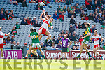 Barry Mahony Kerry in action against Oisin McWilliams Derry in the All-Ireland Minor Footballl Final in Croke Park on Sunday.