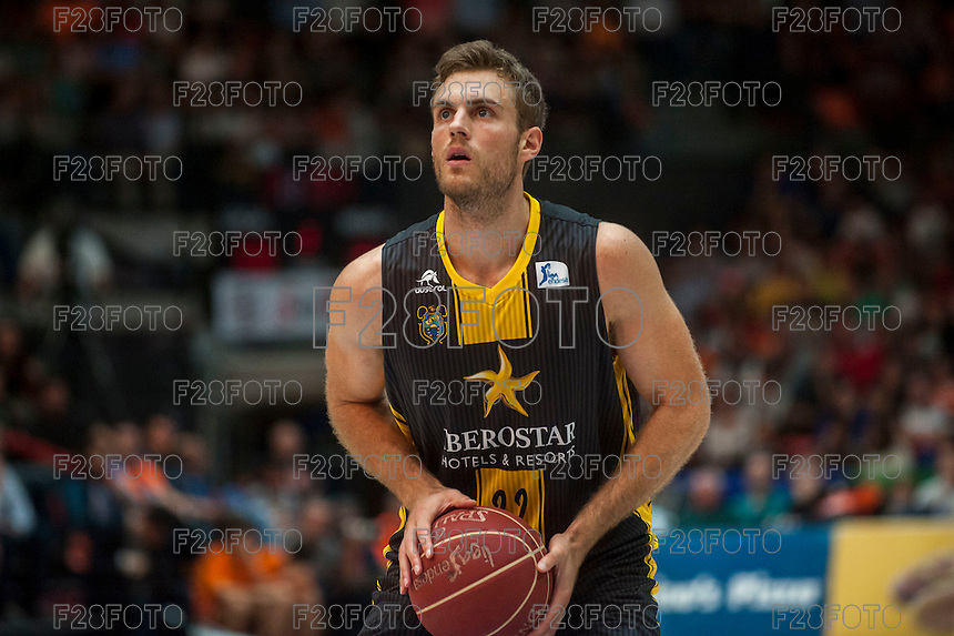 VALENCIA, SPAIN - APRIL 24: Abromaitis during ENDESA LEAGUE match between Valencia Basket Club and Iberostar Gran Canaria at Fonteta Stadium on April, 2016 in Valencia, Spain