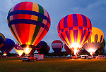 Foley Ballon Festival at Sundown.