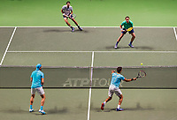 Rotterdam, The Netherlands, 17 Februari 2019, ABNAMRO World Tennis Tournament, Ahoy, Jean-Julien Rojer (NED) / Horia Tecau (ROU) vs Jeremy Chardy (FRA) / Henri Kontinen (FIN),<br /> Photo: www.tennisimages.com/Henk Koster