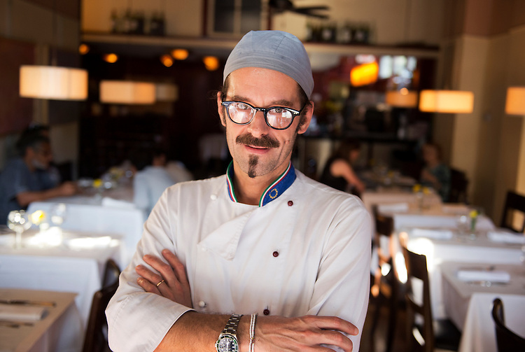 UNITED STATES - JULY 18: Chef Emanuele Simeoni is pictured in Ninnella, located across from Lincoln Park on Capitol Hill. (Photo By Tom Williams/CQ Roll Call)