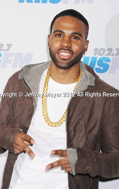 LOS ANGELES, CA - DECEMBER 03: Jason Derulo attends the KIIS FM's Jingle Ball 2012 held at Nokia Theatre LA Live on December 3, 2012 in Los Angeles, California.