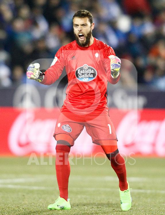 Celta de Vigo's Sergio Alvarez celebrates goal during La Liga match. January 28,2017. (ALTERPHOTOS/Acero)