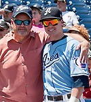 Aces shortstop Jake Elmore with his father David who traveled from Alabama to watch the Aces four game series against the Tucson Padres  and spend Father's Day with his son.