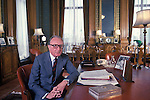 Lord Carrington at home. The Manor House, Bledlow, Buckinghamshire England. Circa 1975