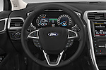 Car pictures of steering wheel view of a 2015 Ford Mondeo Titanium 5 Door Wagon 2WD Steering Wheel