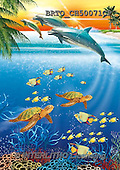 Alfredo, REALISTIC ANIMALS, REALISTISCHE TIERE, ANIMALES REALISTICOS, paintings+++++,BRTOCH50071CP,#A# ,dolphins ,puzzles