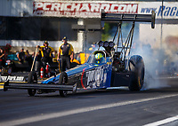 Jun 9, 2017; Englishtown , NJ, USA; NHRA top fuel driver Blake Alexander during qualifying for the Summernationals at Old Bridge Township Raceway Park. Mandatory Credit: Mark J. Rebilas-USA TODAY Sports