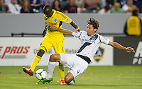 CARSON, CA - July 4, 2013: LA Galaxy vs Columbus Crew match at the StubHub Center in Carson, California. Final score, LA Galaxy 2, Columbus Crew 1.
