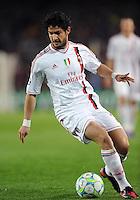 FUSSBALL  CHAMPIONS LEAGUE  VIERTELFINAL RUECKSPIEL   2011/2012      FC Barcelona - AC Mailand           03.04.2012 Pato (AC Mailand)