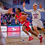 26 January 2019: Stony Brook Seawolves Guard Jerell Matthews, a Senior from Chicago, IL, in action against the University of Vermont Catamounts at Patrick Gymnasium in Burlington, Vermont. The Lady Seawolves defeated the Lady Catamounts 67-61 in America East Women's Basketball. Mandatory Credit: Ed Wolfstein Photo *** RAW (NEF) Image File Available ***