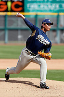 Jae-Kuk Ryu - San Diego Padres - 2009 spring training.Photo by:  Bill Mitchell/Four Seam Images