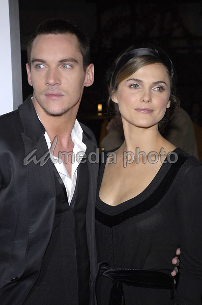 "11 November 2007 - New York, New York - Jonathan Rhys Meyers and Keri Russell. The New York premiere of Warne Bros. Pictures' ""August Rush"" held at  the Ziegfeld Theater.  Photo Credit: Bill Lyons/AdMedia *** Local Caption ***"