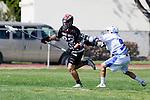 Corona Del Mar, CA 04/06/10 - Hunter Doliber (Danville/Monte Vista #22) and Michael Keasey (Corona Del Mar #9) in action during the Corona Del Mar-Danville/Monte Vista lacrosse game.