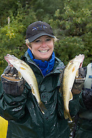 Knee Lake on the Hayes River in northern Manitoba, Canada is a popular Walleye and norther Pike fishing destination with guided fishing from outboard powered boats, based out of North Star Resort, formerly known as Knee Lake Resort.  Guides prepare shore lunches of fresh caught Walleye, while releasing all Pike caught by sports fishermen at this wilderness destination.