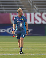Sweden coach Thomas Dennerby. The US Women's national team beat Sweden, 3-0, at Rentschler Field on July 17, 2010.