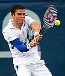 Milos Raonic (CAN) defeats Lleyton Hewitt (AUS) 7-6(1) 7-6(3)