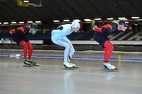 SCHAATSEN: HEERENVEEN: 24-06-2014, IJsstadion Thialf, Zomerijs training, Koen Verweij, Bart Swings, Christijn groeneveld, ©foto Martin de Jong