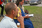 Dawson City Music Fest,2010, Coffee and  smoke break,THE YUKON TERRITORY, CANADA