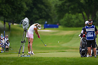 Lexi Thompson (USA) hits her tee shot on 2 during the round 3 of the KPMG Women's PGA Championship, Hazeltine National, Chaska, Minnesota, USA. 6/22/2019.<br /> Picture: Golffile | Ken Murray<br /> <br /> <br /> All photo usage must carry mandatory copyright credit (© Golffile | Ken Murray)