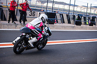 Ana Carrasco in pit line at pre season winter test IRTA Moto3 & Moto2 at Ricardo Tormo circuit in Valencia (Spain), 11-12-13 February 2014