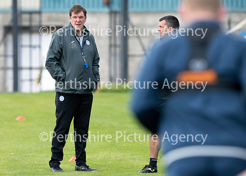 St Johnstone Training&hellip;.15.09.17<br />Manager Tommy Wright pictured during training this morning at McDiarmid Park ahead of tomorrow&rsquo;s game at Dundee<br />Picture by Graeme Hart.<br />Copyright Perthshire Picture Agency<br />Tel: 01738 623350  Mobile: 07990 594431