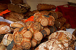 Shop window of bakery in the Bastille area of Paris, France