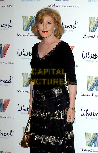 PATRICIA HODGE.The Whitbread Book Of The Year Awards 2005, The Brewery, Chiswell Street, London, UK..January 24th, 2006.Ref: BEL.half length black top belt skirt.www.capitalpictures.com.sales@capitalpictures.com.© Capital Pictures.