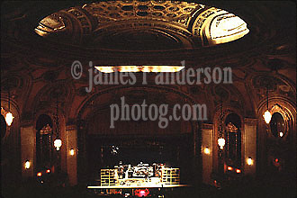 Interior of the Theater from the Balcony before Audience Enters. Grateful Dead Shea's Buffalo Theater, NY 20 Jan 1979<br /> Contact Photographer for High Resolution File if purchasing Rights Managed Usage.
