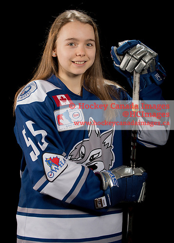 Sudbury, ON - Apr 20 2019 - Sudbury Lady Wolves during the  2019 ESSO Cup at the Gerry McCrory Countryside Sports Complex in Sudbury, Ontario, Canada (Photo: Matthew Murnaghan/Hockey Canada)