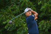 Kyoung-Hoon Lee (KOR) watches his tee shot on 6 during round 2 of the 2019 Charles Schwab Challenge, Colonial Country Club, Ft. Worth, Texas,  USA. 5/24/2019.<br /> Picture: Golffile   Ken Murray<br /> <br /> All photo usage must carry mandatory copyright credit (© Golffile   Ken Murray)