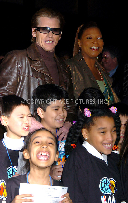 "WWW.ACEPIXS.COM . . . . .  ....NEW YORK, MARCH 28, 2006....Denis Leary and Queen Latifah at the premiere of ""Ice Age: The Meltdown"".....Please byline: AJ Sokalner - ACEPIXS.COM.... *** ***..Ace Pictures, Inc:  ..Philip Vaughan (212) 243-8787 or (646) 769 0430..e-mail: info@acepixs.com..web: http://www.acepixs.com"